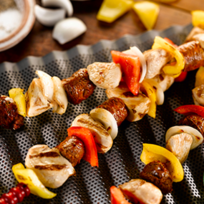 Grilled Chicken and Chorizo Skewers Thumbnail