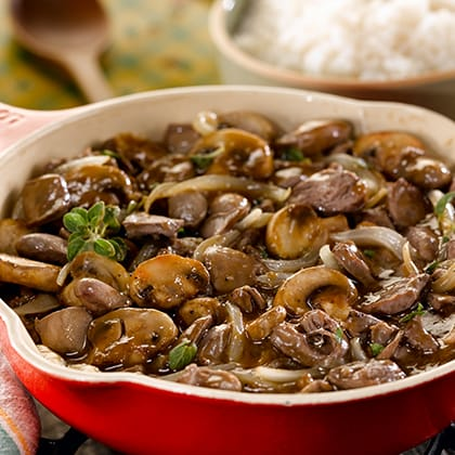 Chicken Hearts with Onions and Mushrooms Thumbnail