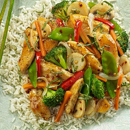 Chicken and Basil Stir-Fry Thumbnail