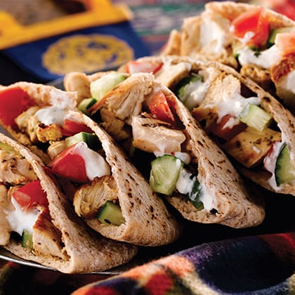 Grilled Chicken and Hummus Pitas Thumbnail