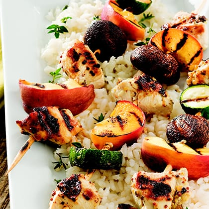 Grilled Chicken and Peach Kabobs Thumbnail