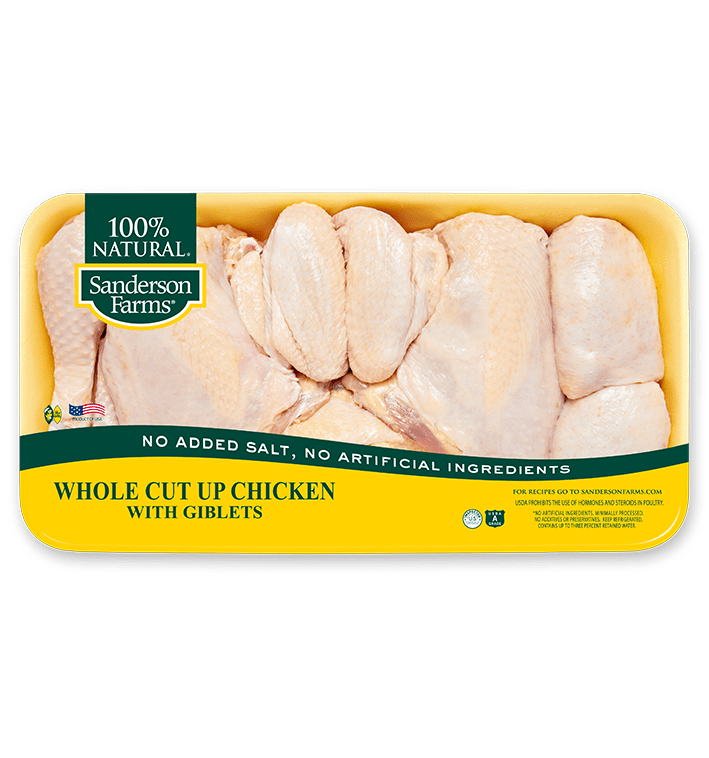 Whole Cut-Up Chicken with Giblets and Neck